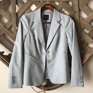 The Limited Light Gray Lined Blazer 6